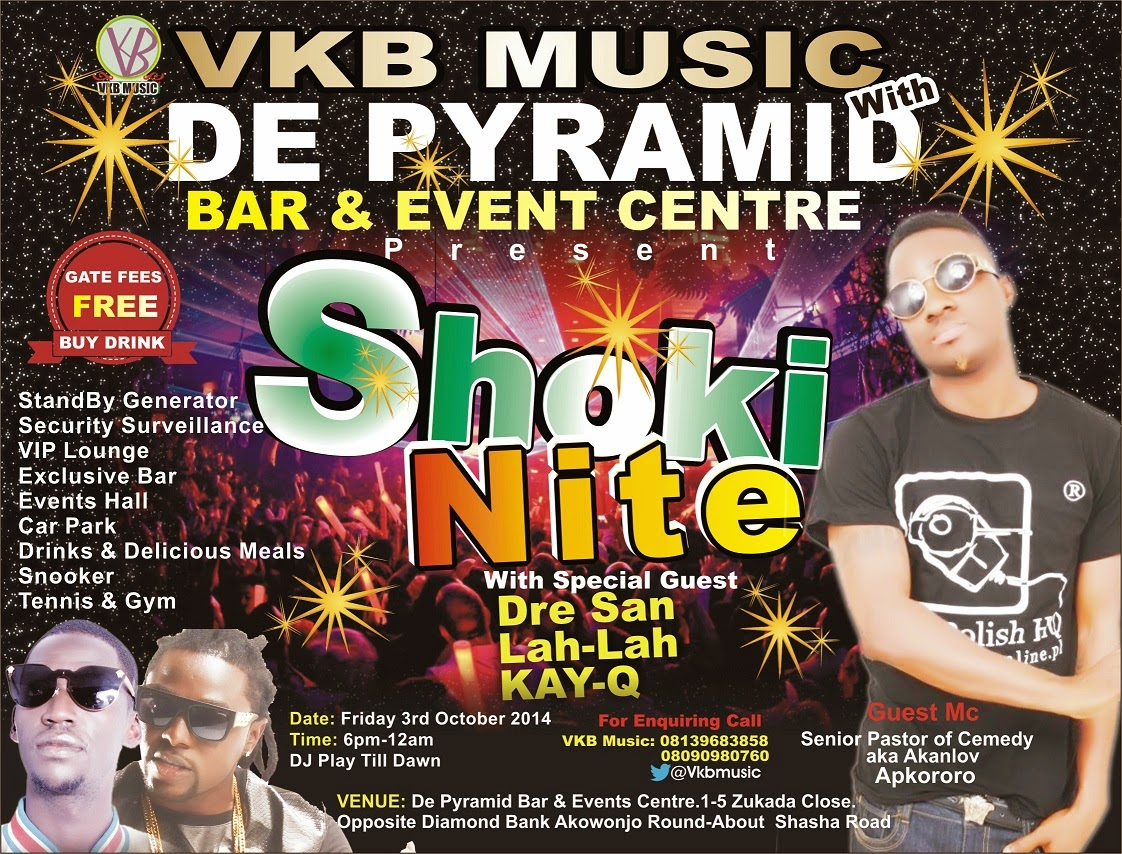 SHOKI NITE SHOW FRIDAY 3rd of OCT 2014