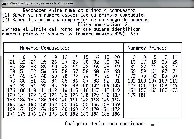 Identificar numeros primos en C | Mis notas de programación