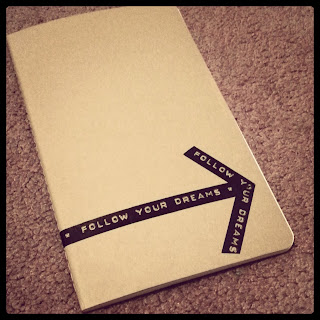 Follow Your Dreams Washi Tape Notebook