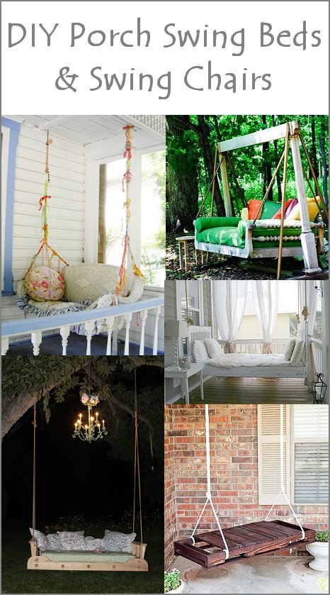 Dishfunctional designs upcycled new uses for old chairs for Old porch swing