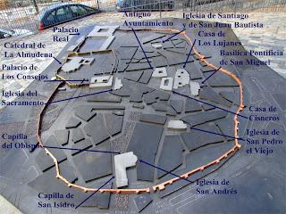 maqueta de la muralla de Madrid