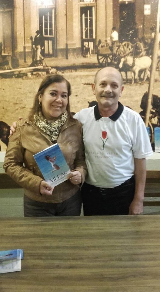 Manoel Ianzer com Luiza Palacios Escalante