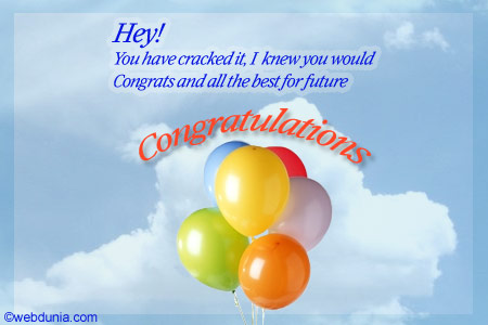 Warm greetings and wishes congratulations on success congratulations card m4hsunfo