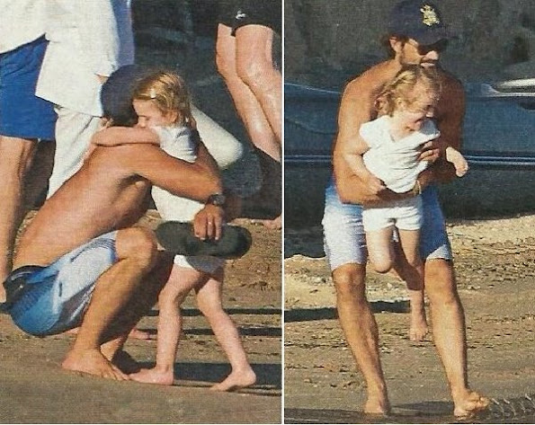 Princess estelle of Sweden holiday with her godfather Prince Carl Philip in France.