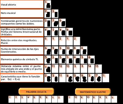 Retos Matematicos, Acertijos matemáticos, problemas matemáticos,La Palabra Oculta, La Pirámide, desafíos matemáticos
