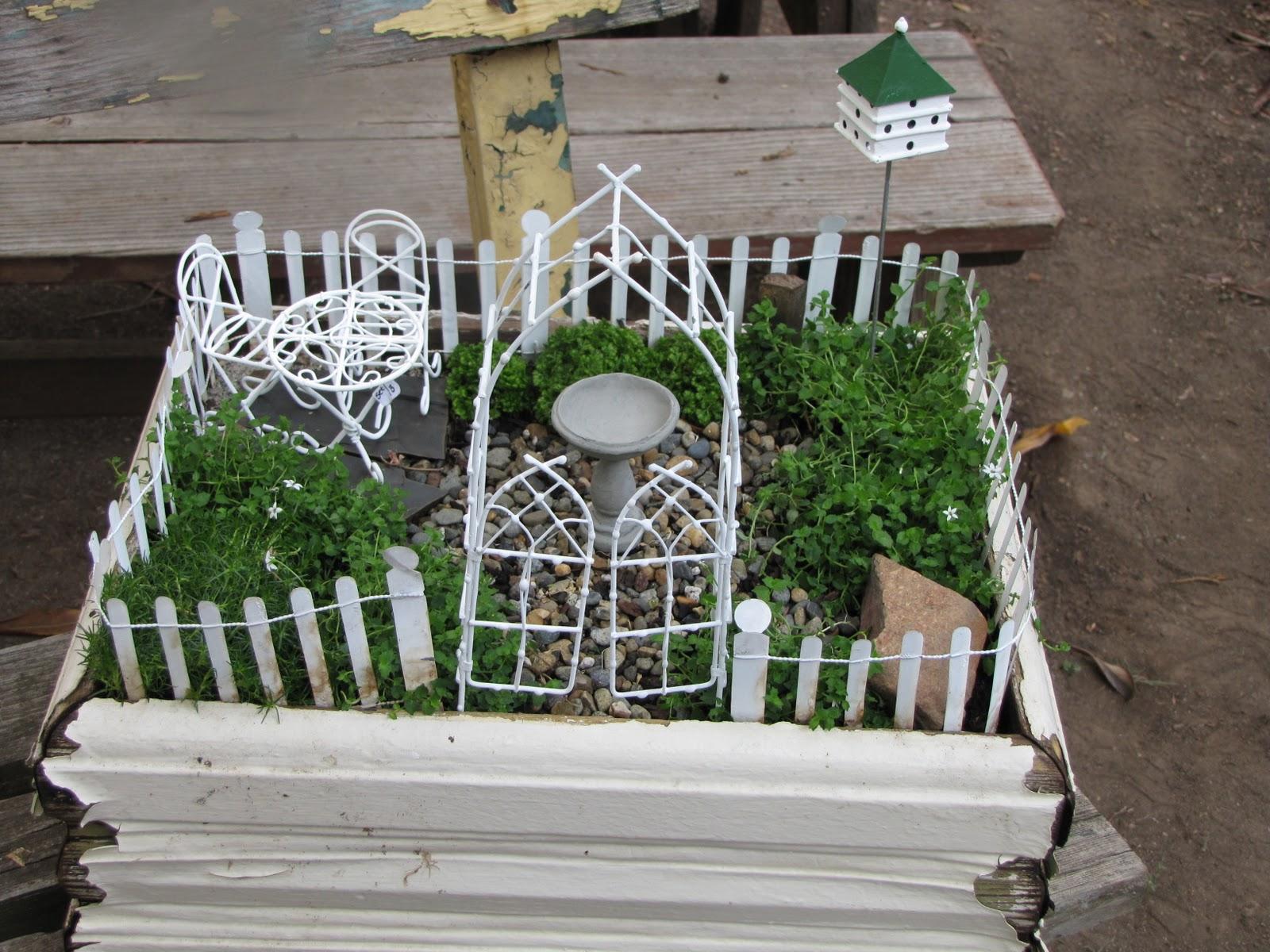 The antique gardener october 2011 for How to make miniature garden furniture