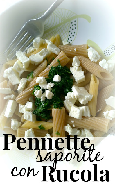 Pennette saporite con Rucola - Pennette with Arugula | Quick & Easy Vegetarian (or Vegan) Pasta Recipe || Funky Jungle