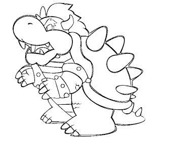 #2 Bowser Coloring Page