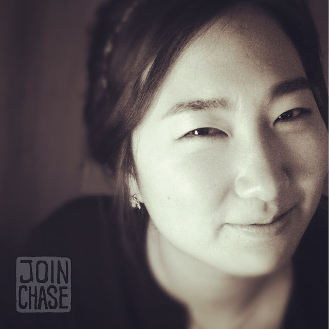 A portrait of a Korean woman in Hongdae, Seoul, South Korea.