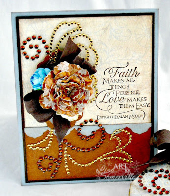 Card created with Authentique's Hope Collection, Zva Creative Gems, stamps from Our Daily Bread Designs