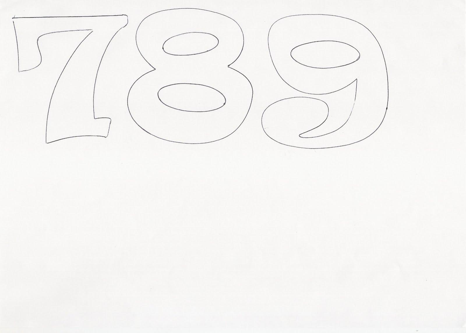 Molde De Letras Y Numeros