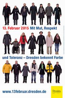 Menschenkette am 13. Februar 2015