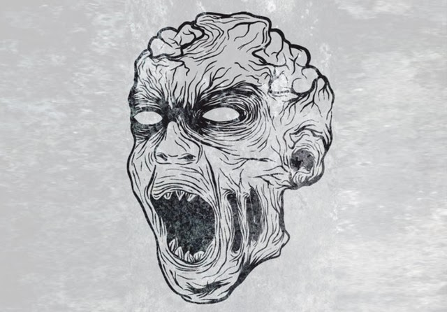 A Gruesome Zombie Illustration