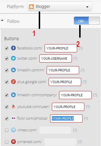 Adding follow us plug in for blog