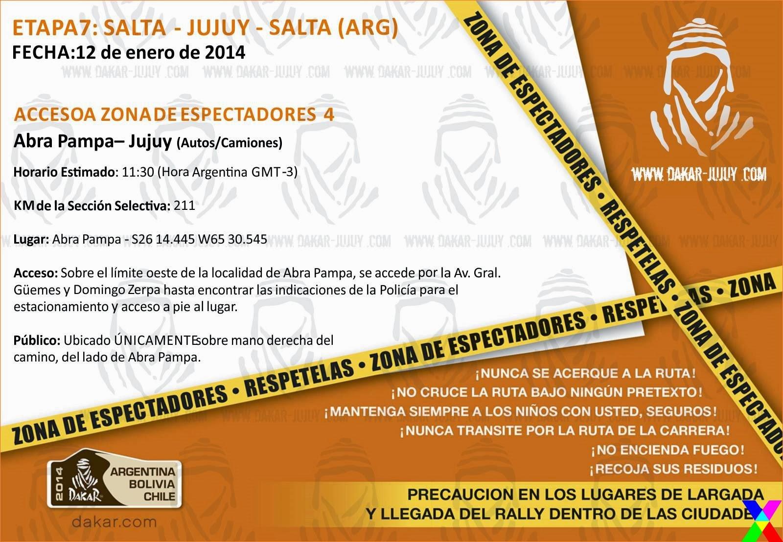 Zona de Espectadores 4 Jujuy - Dakar 2014