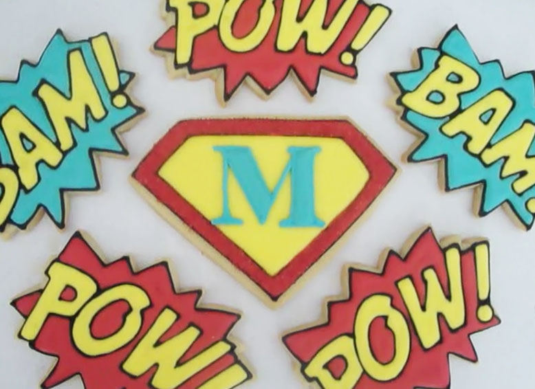 Sugar Mama Cookies: Superhero/Comic Book Theme Cookies