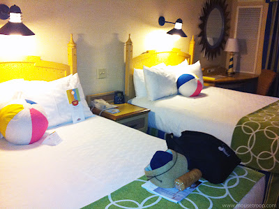 Paradise Pier Hotel Disneyland Resort room beach balls