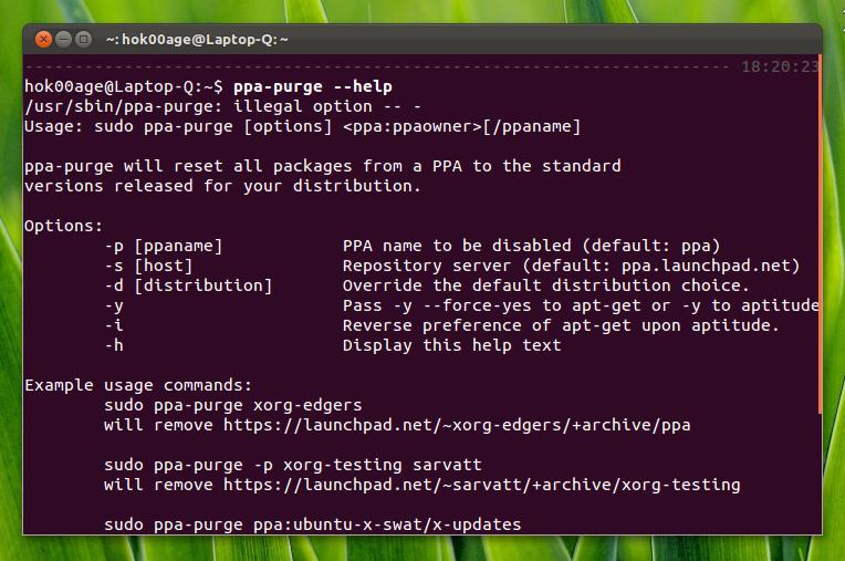 PPA Purge di Ubuntu 11.10 Oneiri Ocelot