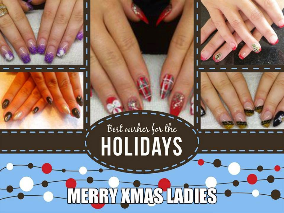 Xmas, weddings, work-dos, NEON colors acrylic extensions + Shellac manicure abstract color