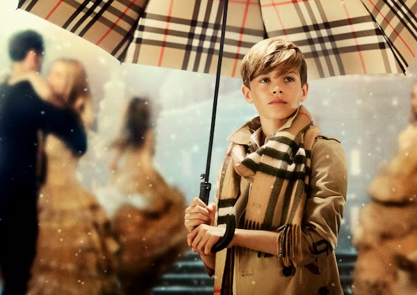 Romeo Beckham Burberry festive campaign 'From London with Love'