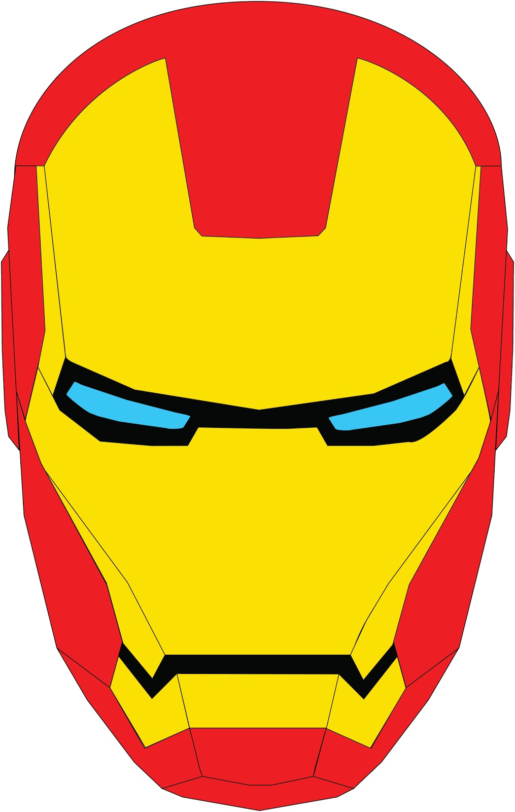 Damien mallon graphic design illustration iron man vectors for Iron man face mask template