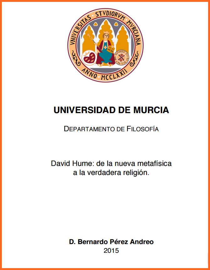 David Hume: de la Nueva Metafísica a la Verdadera Religión.