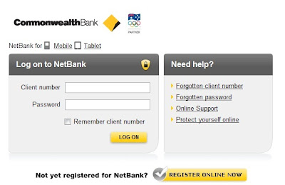 Commbank NetBank Logon