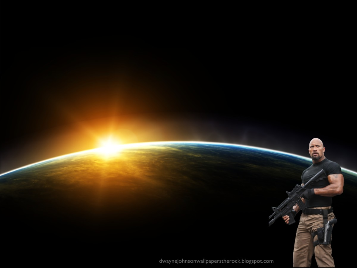 Desktop wallpapers of dwayne johnson the rock fast five movie space
