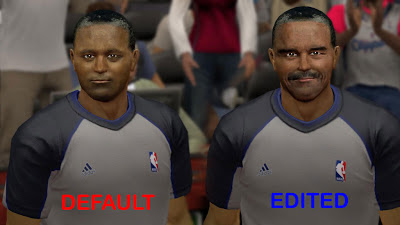 NBA 2K13 Referee Comparison Cyber Face