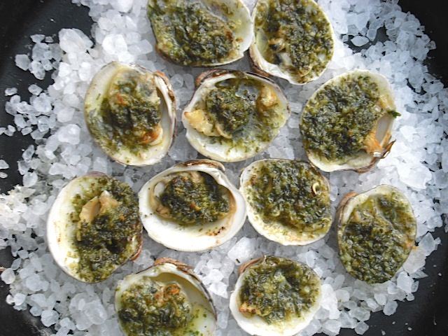 Kitchen Bounty: Broiled Clams with Garlic Herb Butter