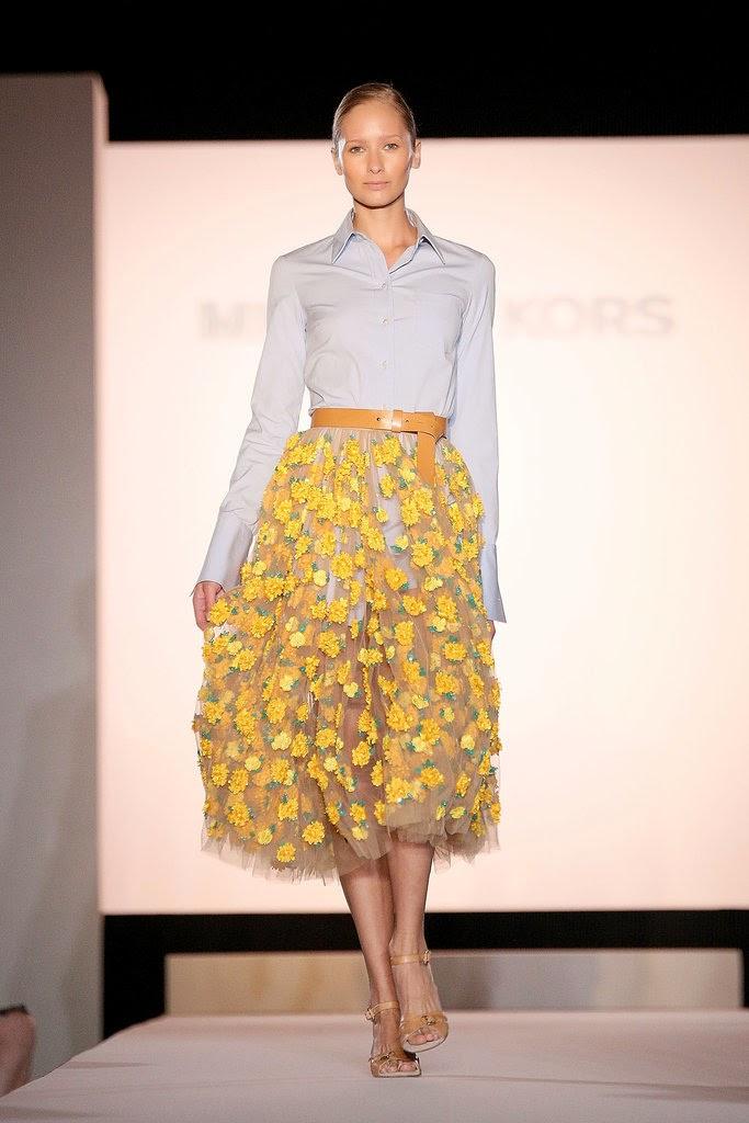 Michael Kors Marigold Embroidered Tulle Skirt