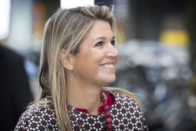 Queen Maxima attends symposium in Utrecht