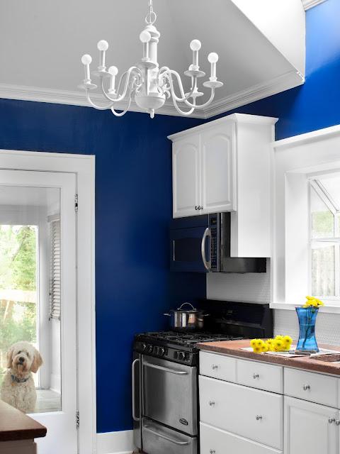 blue kitchen walls