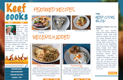 KeefCooks home page