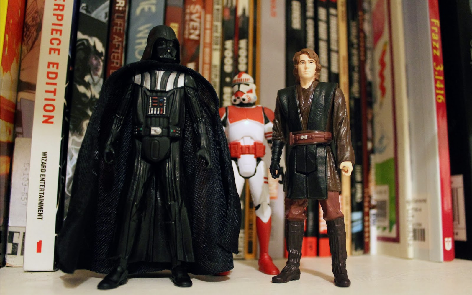 Saga Legends Darth Vader, Shock Trooper and Anakin Skywalker