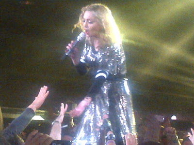 Madonna on stage at the MSG during her MDNA Tour.