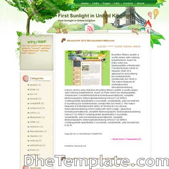 First Sunlight in United Kingdom blogger template