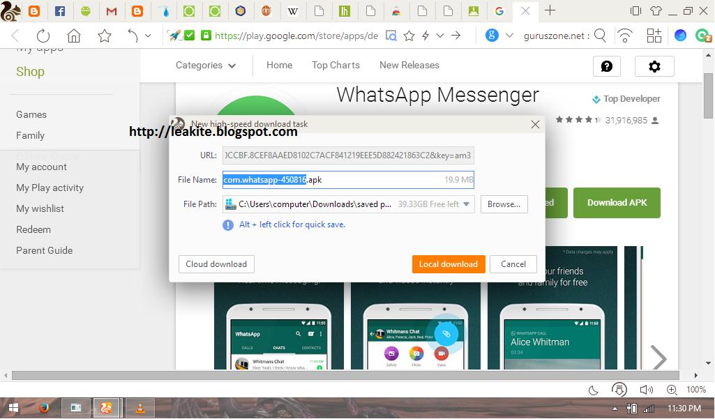 download apk via browser