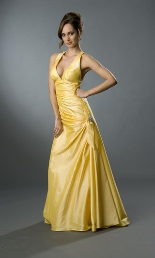 yellow informal wedding dresses