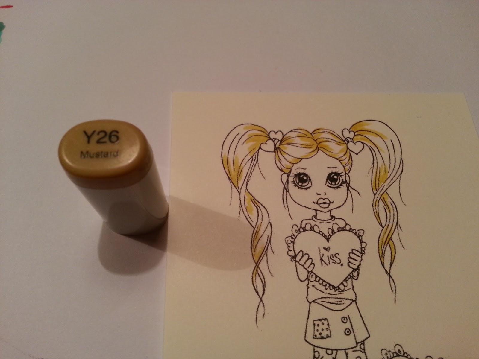 Copic marker benelux tutorial blond haar met schaduw - Schaduw maken ...