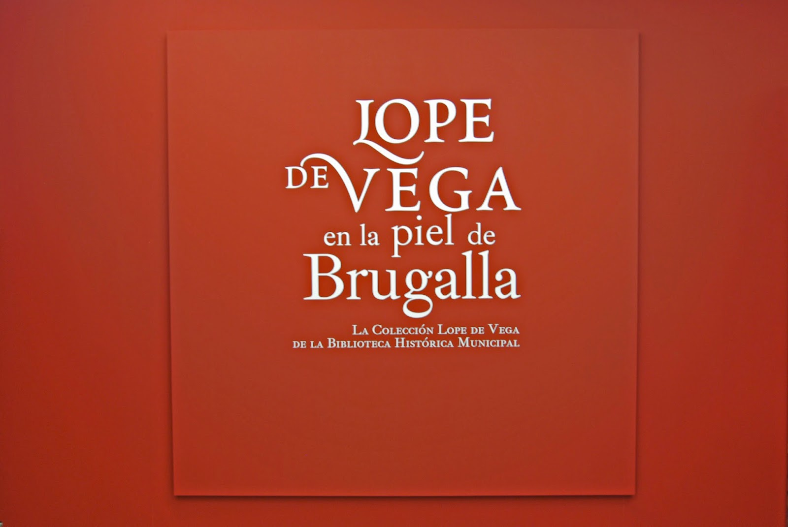 Lope de Vega en la piel de Brugalla