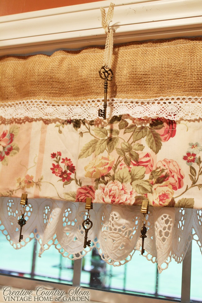 Awesome I Have A Small Kitchen Window Over The Sink And A Patio Door In The  Kitchen. I Wanted To Use My Inspiration Fabric... A Sweet Rose Print For  The New Re Do ...