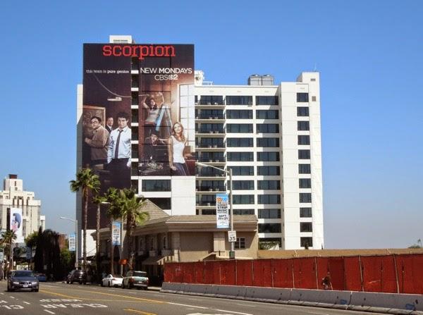 Giant Scorpion series premiere billboard Sunset Strip