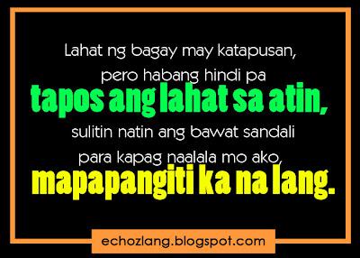 Lahat ng bagay may katapusan, pero habang hindi pa tapos ang lahat sa atin, sulitin natin ang bawat sandali