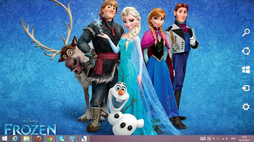 Disney Frozen 2013 Theme For Windows 7 And 8 8.1