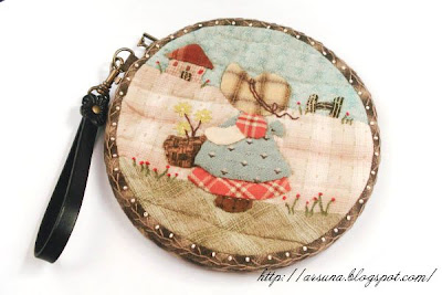 japan patchwork clutch bag