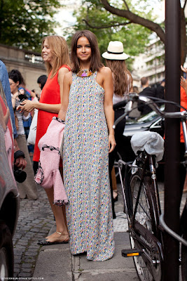 Miroslava Duma Style Maxi Dress