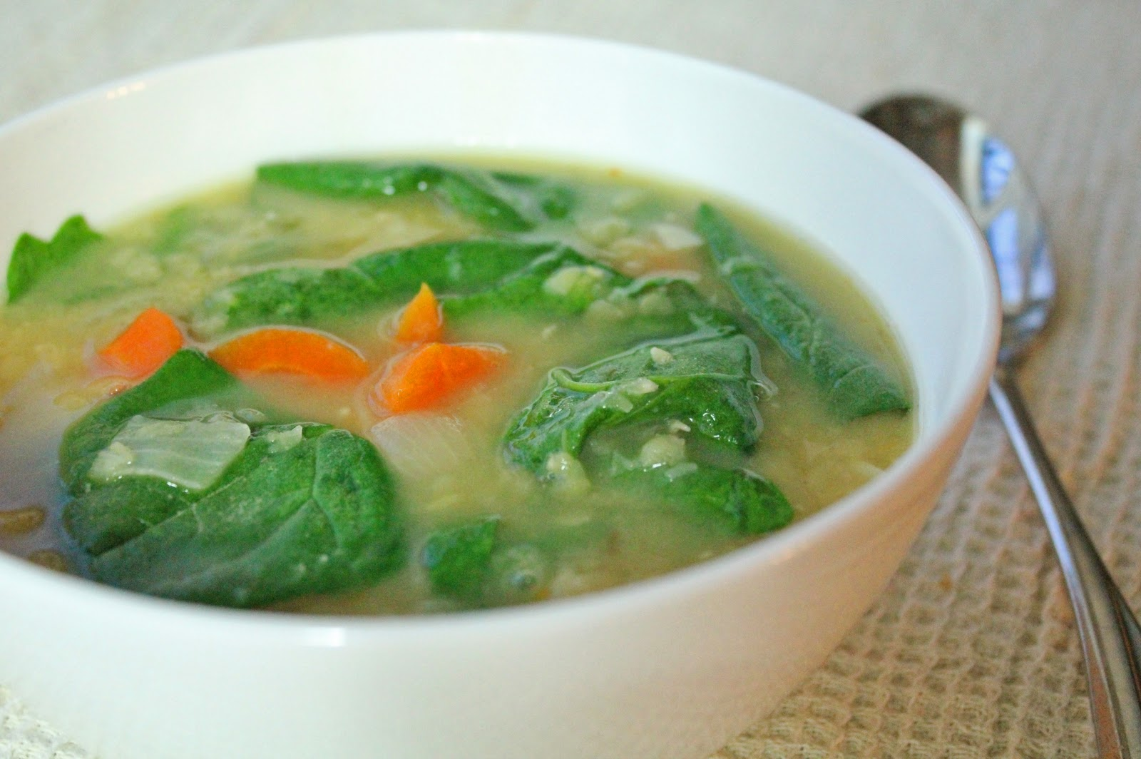 Being Suzy Homemaker: Lentil and Spinach Soup