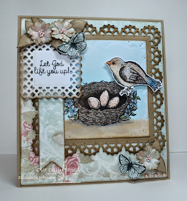 Our Daily Bread Designs, Spread Your Wings, Butterfly and Bugs, Birds and Nest, Layered Lacey Squares, Pennants, Shabby Rose Paper Collection, Designed by Elizabeth Whisson