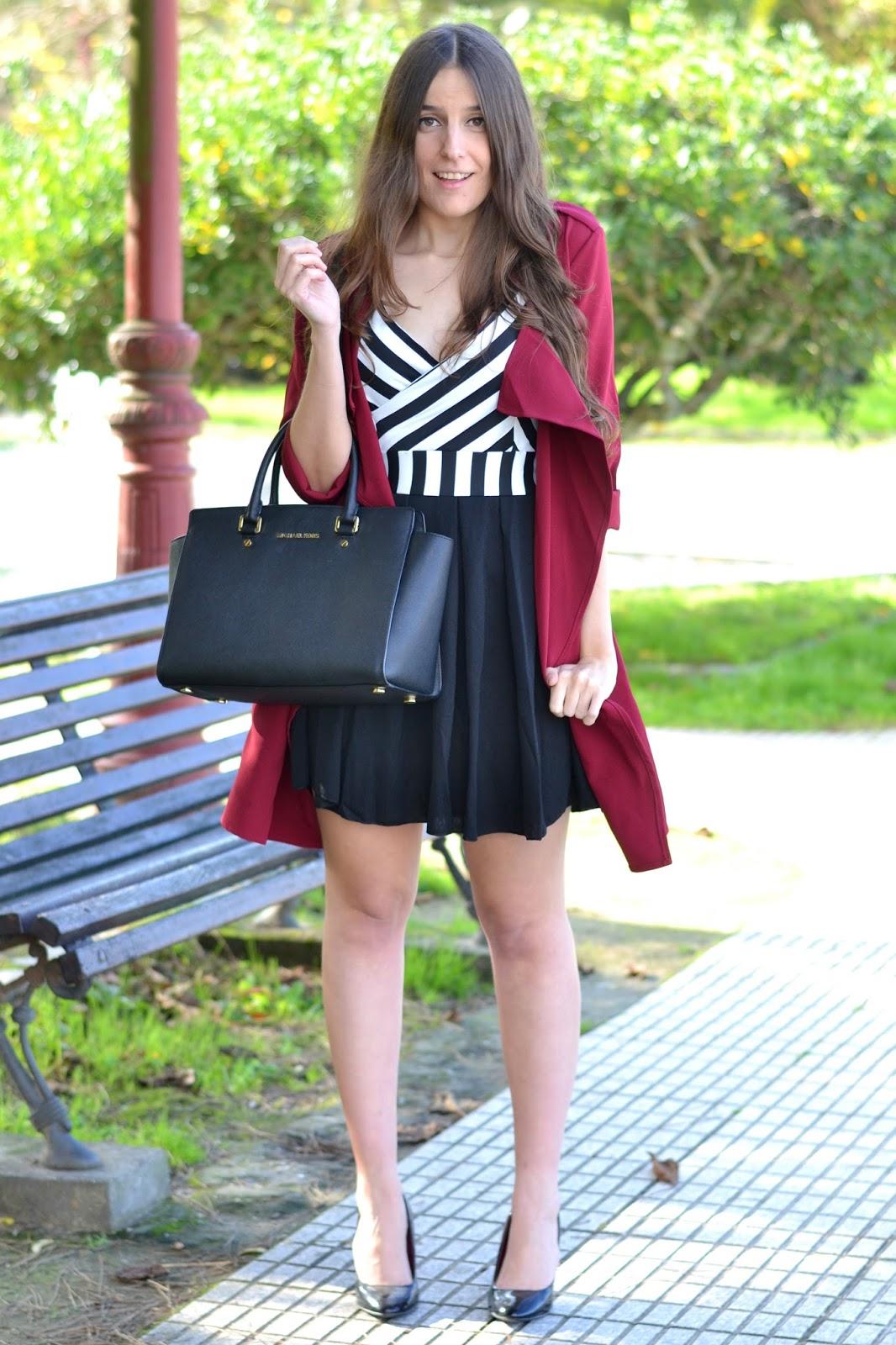 combinar vestido de rayas